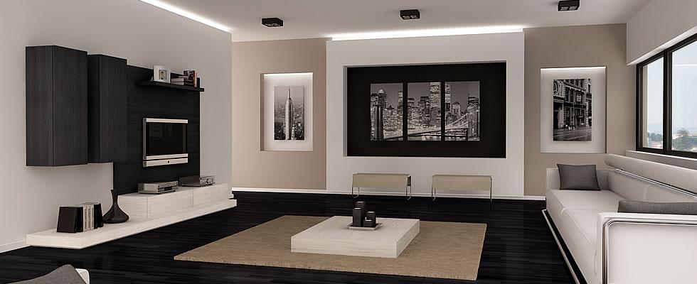 Muebles de salón blanco y negro | Vigoco