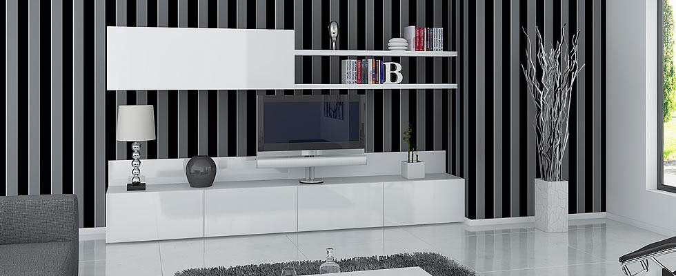 Salones vigoco for Muebles de salon lacados